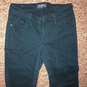 Dark Teal/green old navy jeans